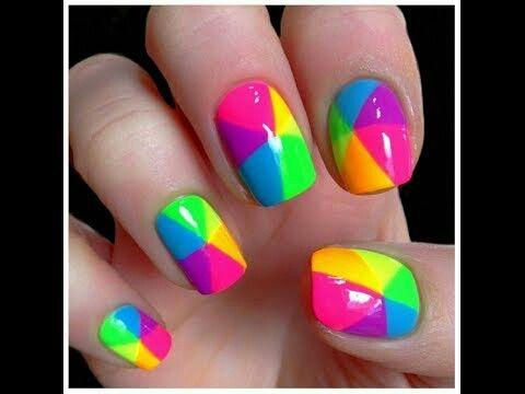 Uñas de tricolor