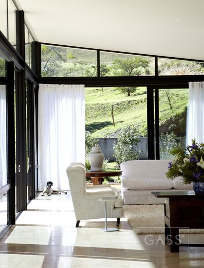 black steel, windows & white ceiling!!!  squared+: Swellendam