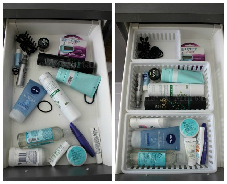 Cheap & Simple solution to organise bathroom drawers