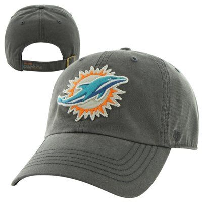 '47 Brand Miami Dolphins Palmetto Adjustable Hat - Charcoal