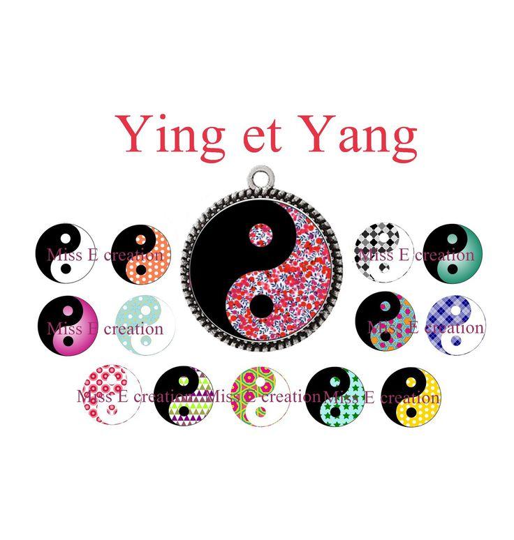 Ying et Yang planche d'images digitales pour cabochon ovales : Cabochon par miss-e