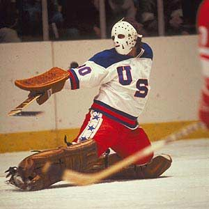 1980 - USA goaltender Jim Craig was spectacular at the Lake Placid Games as the Americans claimed their second gold