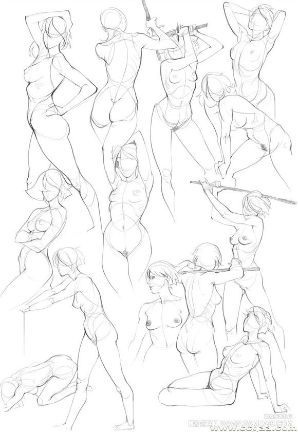 Today's Drawing Class: Drawing the Female Body | Female body sketches