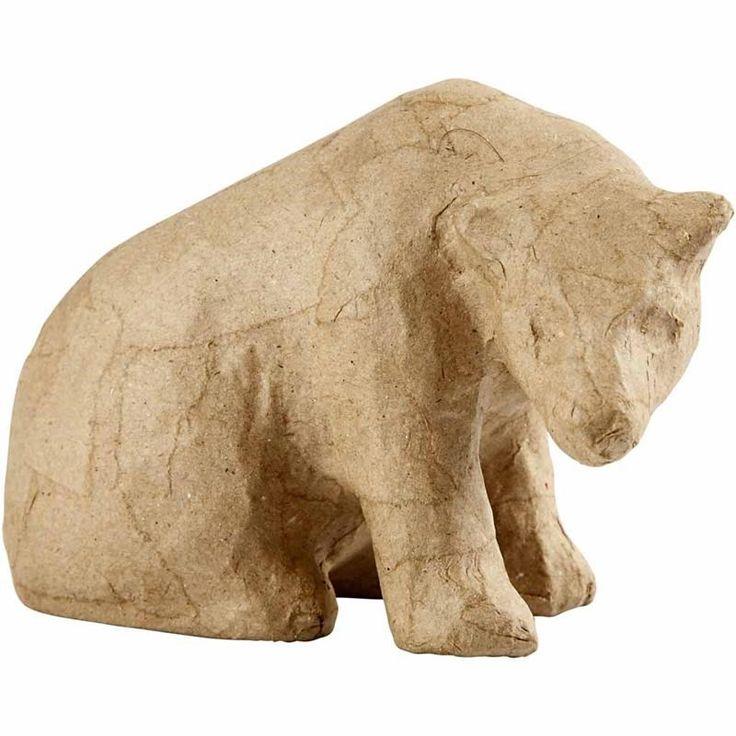 Isbjørn, H: 10 cm, 1 stk.