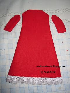 pattern dress for doll