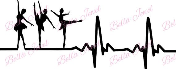 Ballet dancer SVG ballet svg heartbeat svg by BellaJewelBoutique