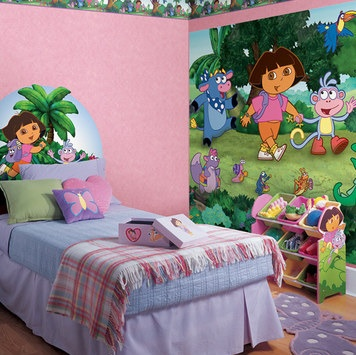 51 best images about dora stuff on pinterest toddler bed for Dora themed bedroom designs