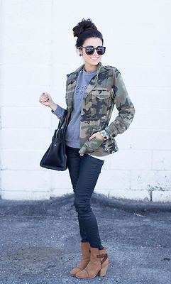 Fall Fashion - Camo...different shoes for me but yup. I told you camo was coming back in style!