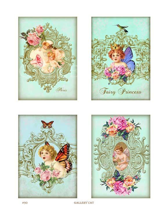 Mestieri di carta Fata polvere Collage digitale di GalleryCat