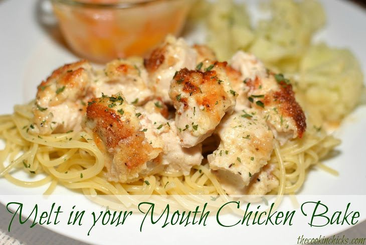 Melt in your Mouth Chicken Bake Recipe Main Dishes with boneless skinless chicken breasts, mayonnaise, fresh parmesan cheese, seasoning salt, ground black pepper, garlic cloves, red pepper flakes, Italian seasoned breadcrumbs