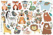 Huge Tribal Animal Clipart Bundle - Illustrations - 2