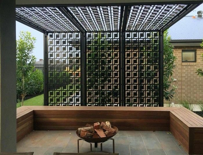 idée brise-vue pergola en métal #pergolasdesign | Home ...