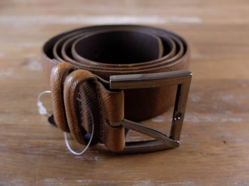 auth ORCIANI brown leather belt - Size 90 (fits size 35 waist best) - NWOT