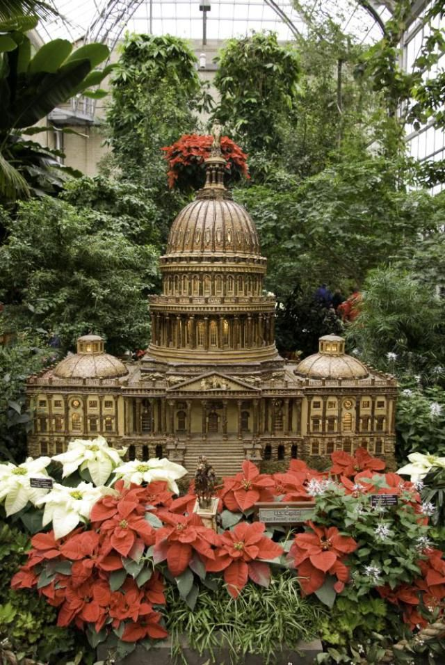 17 best images about local fun good times in and around maryland on pinterest island cake for Botanical gardens dc christmas