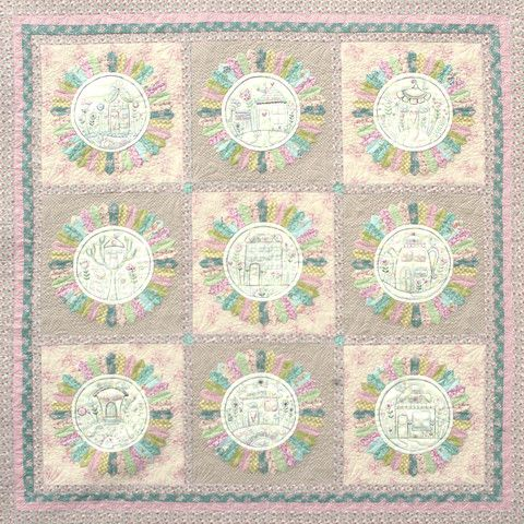 Flowerville Block of the Month - Start Anytime! – Red Thread Studio