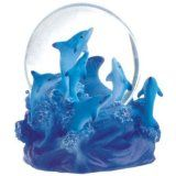 Snow Globe Dolphin Collection Desk Figurine @ seaofdolphins.com