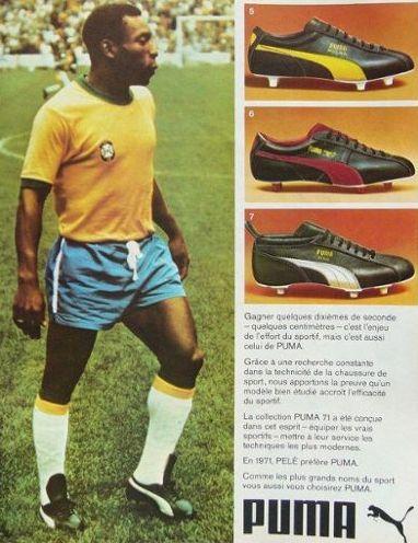 Pele Puma football boots - 1971