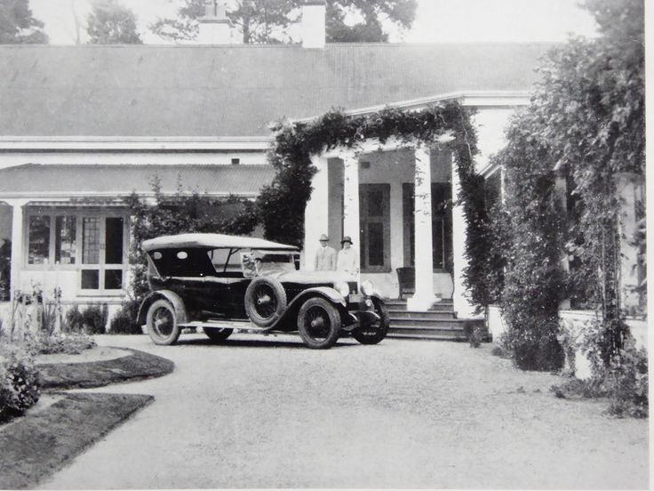 Foxlow, Bungendore, New South Wales. The Property of Franc B. S. Falkiner, Esq. Approximately 15,000 acres. Photo circa 1920. 'Mr George Falkiner and Miss Falkiner setting out from the Foxlow Homestead for the Tirranna Picnic Races'. Uploaded courtesy of thecollectorsbag.com