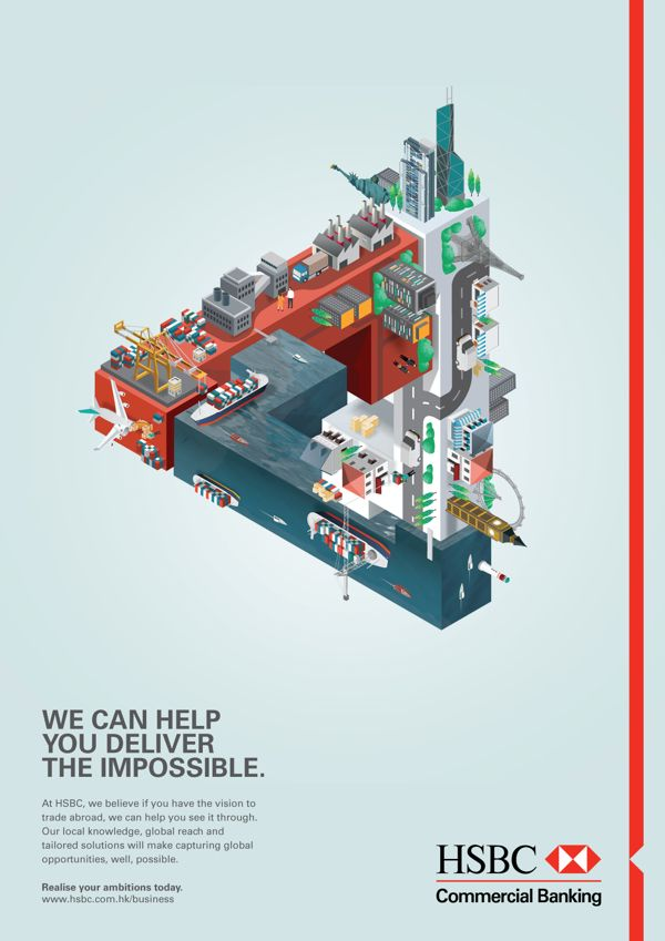 HSBC ad campaigns by Jing Zhang, via Behance