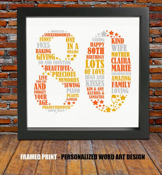 Unique Birthday Present Ideas: 25+ Unique 80th Birthday Gifts Ideas On Pinterest