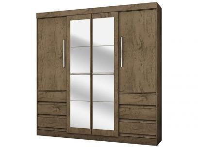 Guarda-roupa Casal 4 Portas 6 Gavetas - Araplac Linea com Espelho com as melhores condições você encontra no Magazine Jsantos. Confira!