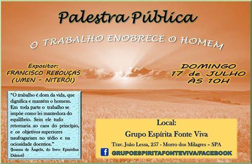 Grupo Espírita Fonte Viva Convida para a sua Palestra Pública  - São Pedro da Aldeia - RJ - http://www.agendaespiritabrasil.com.br/2016/07/15/grupo-espirita-fonte-viva-convida-para-sua-palestra-publica-sao-pedro-da-aldeia-rj-4/