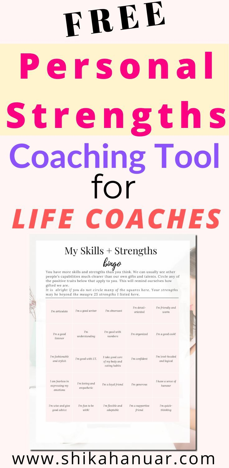 Free Coaching Tool How To Teach Clients To Overcome Fear And Self Doubt With An Exploring Strengths Worksheet Shikah Anuar In 2020 Coaching Tools Life Coaching Worksheets Life Coaching Tools