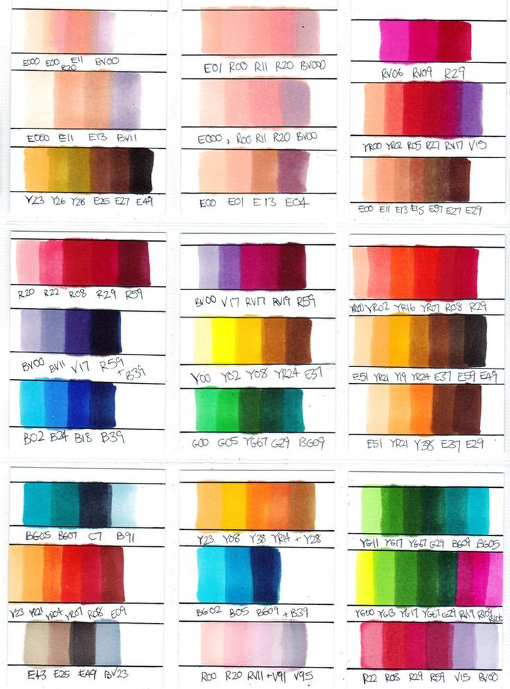 copic color combinations   Copic Marker Colour Combinations by ~Chad73 on deviantART