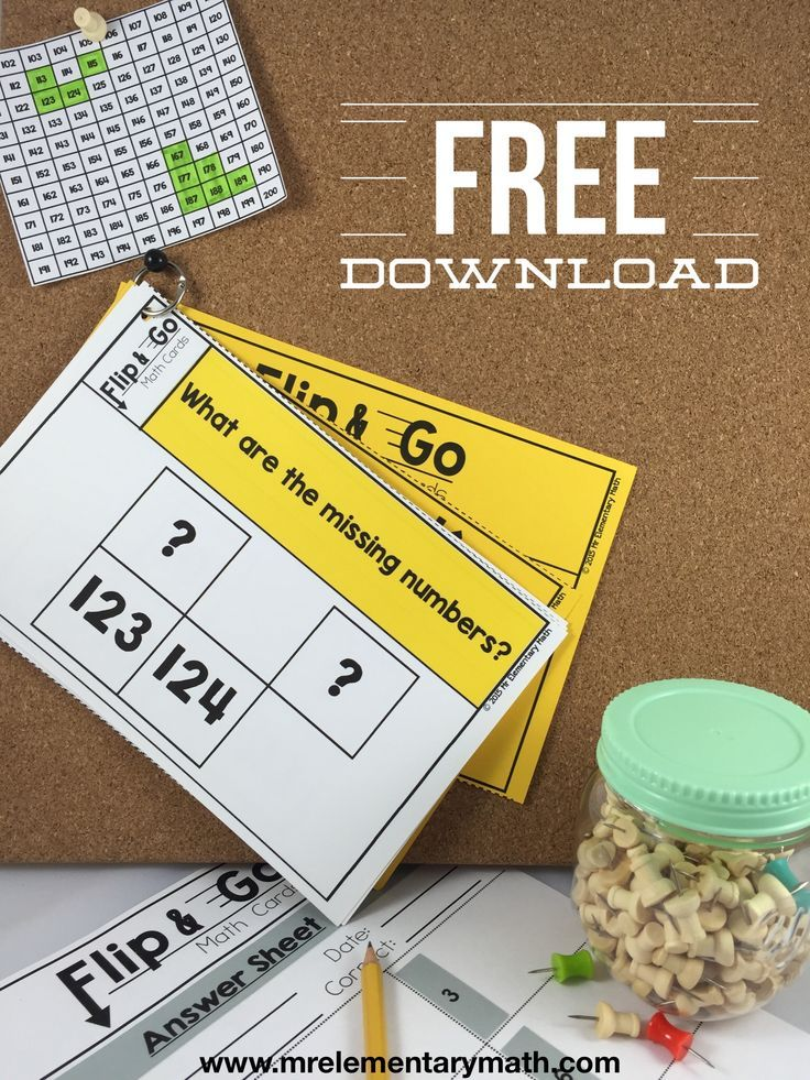 Download these FREE Building Number Sense Math Flip and Go Cards. Includes 30 cards and an answer key.