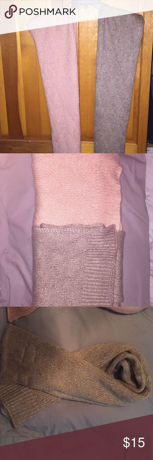 Set of 2 old navy scarves Set of 2 old navy scarves one pink one taupe basically new without tags sweater material Old Navy Accessories Scarves & Wraps