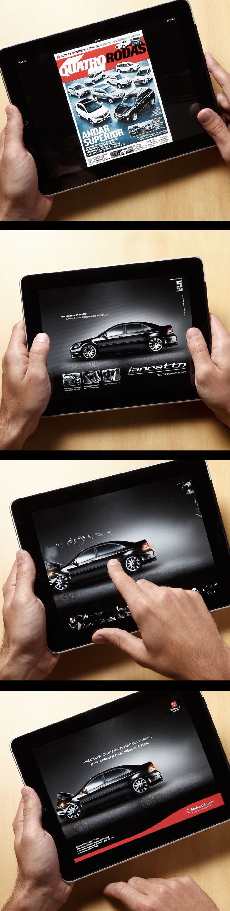 Bradesco - iPad magazines Fake ad