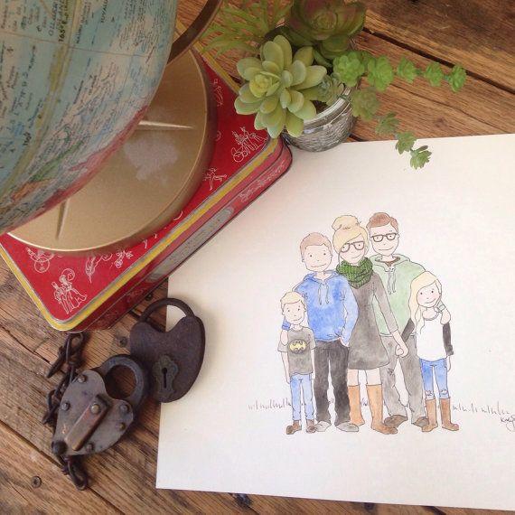 Custom Family Portrait bespoke by KStewartIllustration on Etsy