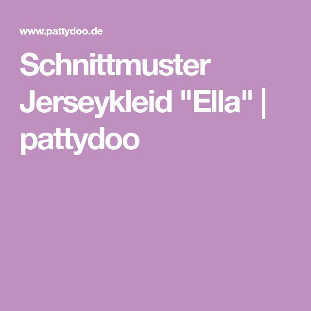 "Schnittmuster Jerseykleid ""Ella""   pattydoo"