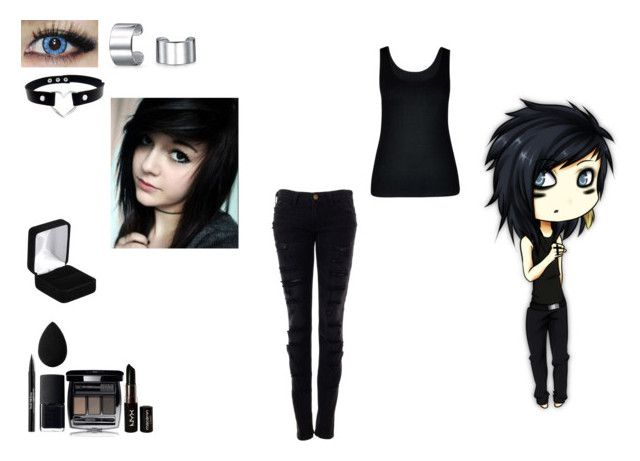 ANIME EMO BOY/GIRL by mayleneholm on Polyvore featuring City Chic, Current/Elliott, Bling Jewelry, Trish McEvoy, NYX, beautyblender, NARS Cosmetics, Chanel and plus size clothing