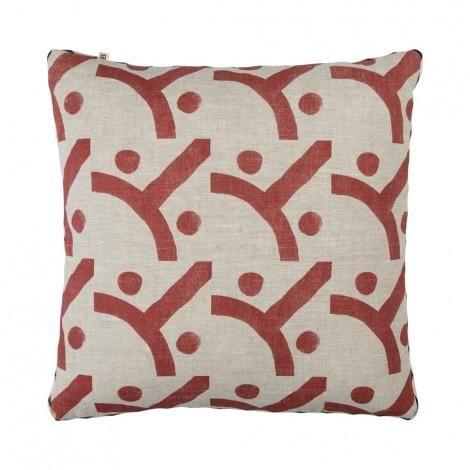 Seventies Cushion in Cocoa | 50cm | Bonnie & Neil – Salt Living or online at www.saltliving.com.ay #saltliving #bonnieandneil #screenprinting #linen #handmade #cushion