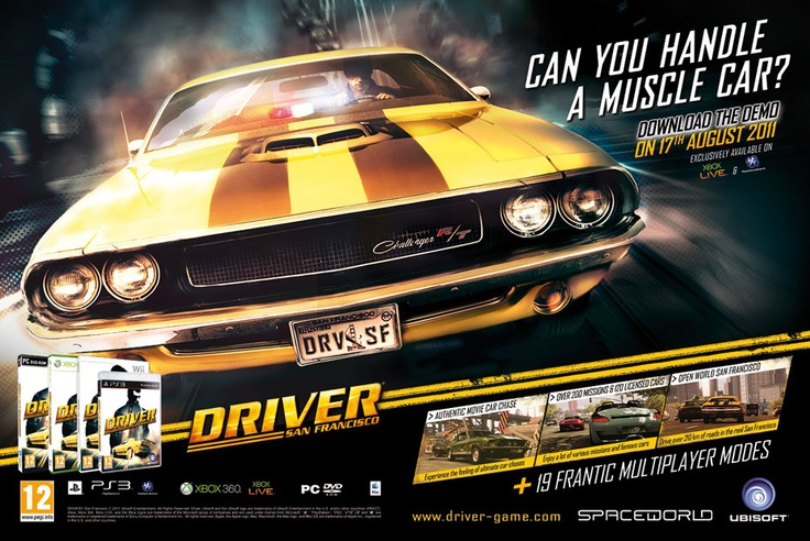 Flash banner campaign for the Ubisoft game Driver San Francisco