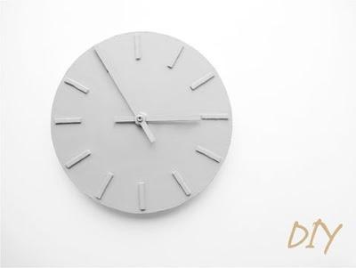 DIY monochrome clock