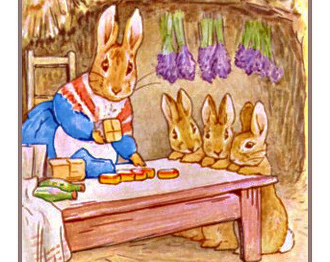 Beatrix Potter Peter Rabbit Collects Onions Counted Cross Stitch Chart Pattern