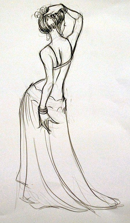 drawing of dancer | Belly Dancer theme photo and artwork | The Drawing Club