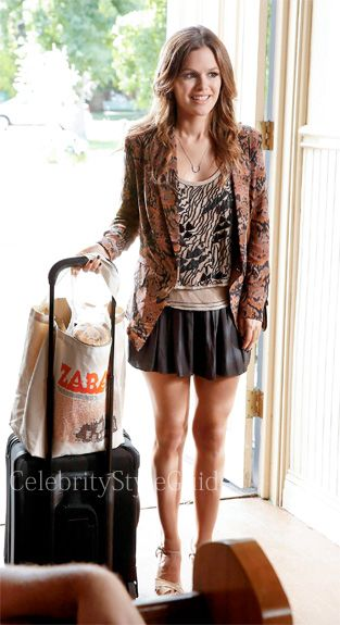 Seen on Celebrity Style Guide: Hart of Dixie Fashion: Rachel Bilson as Zoe Hart wore the BCBGMAXAZRIA Sheena Play Shorts on Hart of Dixie epi 3.01 'Who Says You Can�t Go Home?'