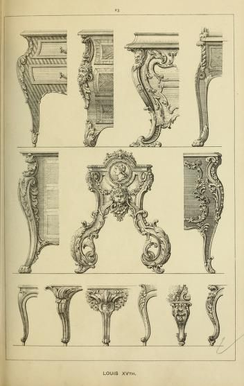Elements of style in furniture and woodwork, being a series of details of the Italian, German Renaissance, Elizabethan, Louis XIVth, Louis XVth, Louis XVIth, Sheraton, Adams, Empire, Chinese, Japanese, and Moresque styles ... for the use of architects, furniture designers, cabinet makers and others : Brook, Robert : Free Download, Borrow, and Streaming : Internet Archive
