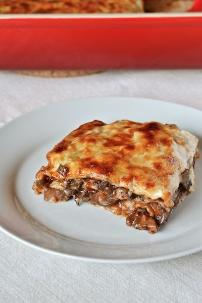 Comfort food for the fall.  Classic Lasagna with mushrooms