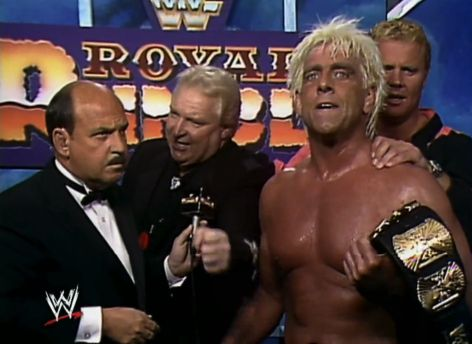 Ric Flair - Winner of 1992 Royal Rumble and WWF Championship