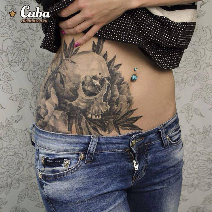 Skull & Mouse http://tattooideas247.com/skull-mouse-2/