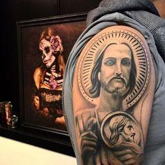 tatuajes de san juditas en el hombro