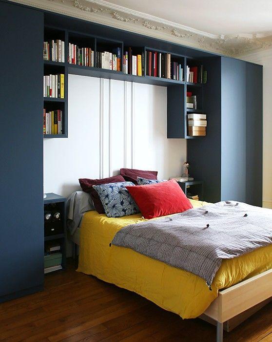 281 best Petites chambres images on Pinterest Bedroom ideas - faire une chambre dans un salon