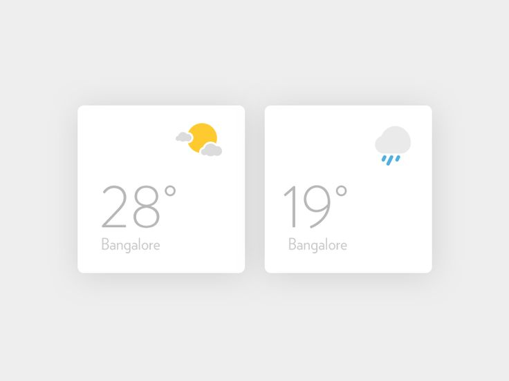 Dribbble - Weather widgets by Soumya Ranjan Bishi