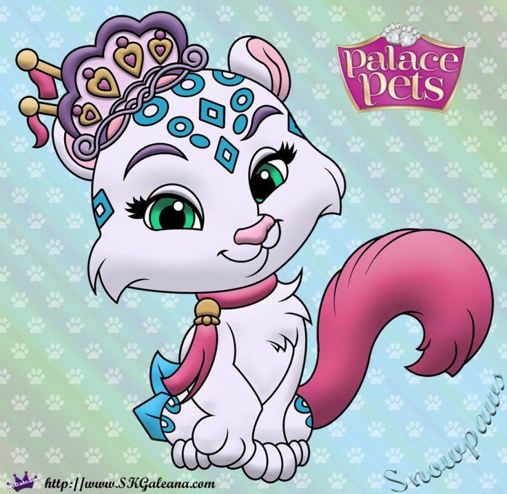 Snowpaws Princess Palace Pets Coloring Page