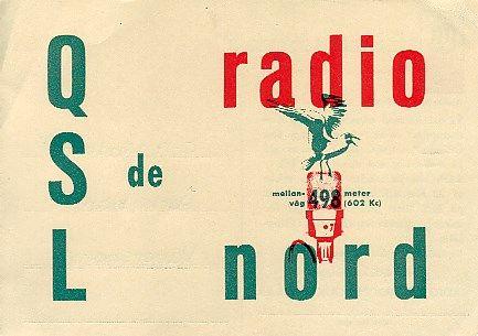 Radio Nord QSL card 1962