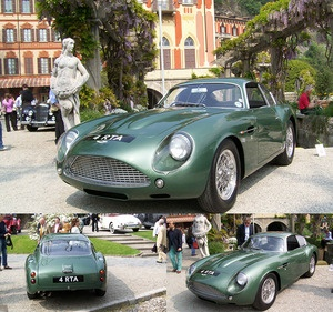 The Aston Martin DB4GT Zagato from 1961. Only 19 were ever built with no two the same (all 19 still exist), although several replicas have been made. Fabulous!: Built In